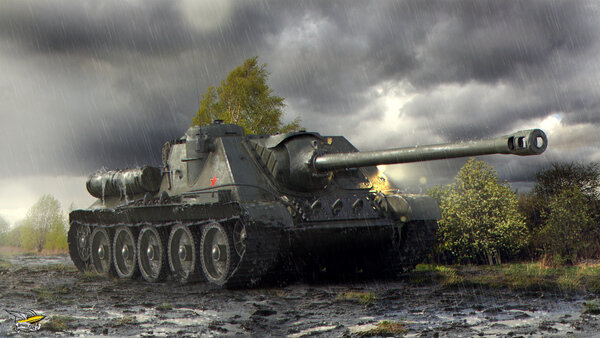 СУ-100 World of Tanks. «Пэтэшка» со сложным характером